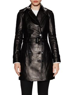 Sandringham Leather Trench Coat from Best of 2015: Luxe Leather on Gilt