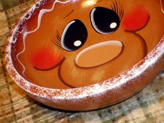 Decorative Gingerbread Wood Bowl by PaintingByEileen on Etsy, $8.95 Who likes gingerbread?