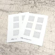 6 Weekly Habit Tracker Planner Stickers door HowtoBulletJournal op Etsy