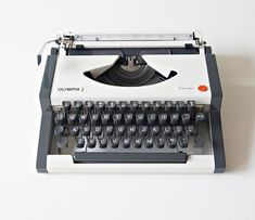 Olympia, Retro Office, Portable Typewriter, Light Touch, Grey Trim, Vintage Typewriters, I Shop, Conditioner, Etsy