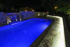 Grayslake, IL - Custom pool, waterfall, lighting - Quantus Pools quantuspools.com 847-907-4995