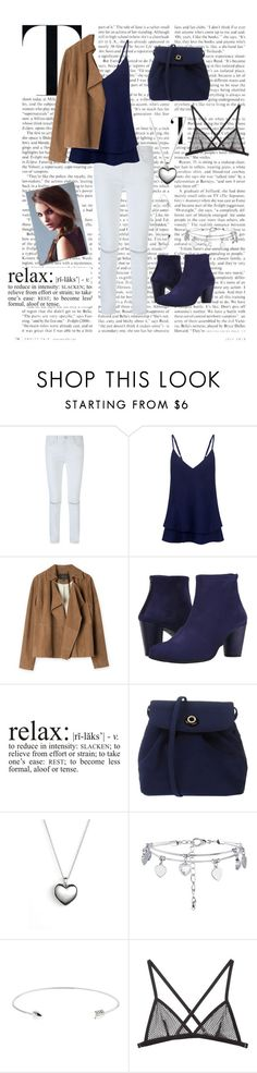 """""""Geen titel #138"""" by nnk24 ❤ liked on Polyvore featuring Rebecca Minkoff, C/MEO COLLECTIVE, Post-It, Arche, Pandora, Ted Baker and Fleur du Mal"""