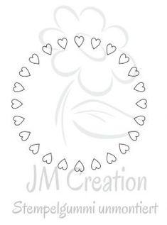 Stempelgummi - Kreis Herzen