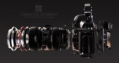 Amazing 3d render of a Canon EOS 5D II by Lemo using the Indigo Render engine.