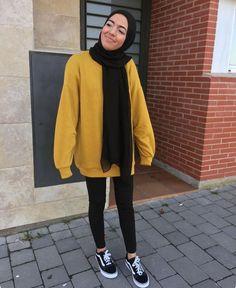 Untitled - Katharina Home Modern Hijab Fashion, Street Hijab Fashion, Hijab Fashion Inspiration, Islamic Fashion, Muslim Fashion, Modest Fashion, Fashion Outfits, Casual Hijab Outfit, Hijab Chic
