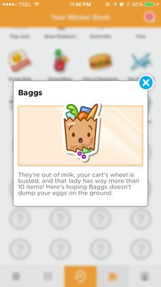Baggs - Check in 3 times at a grocery store category venue
