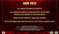 Wild Panda :: general game rules Panda Online, Wild Panda, Different Lines, Coin Values, Casino Bonus, Slot Machine, Nyx, Games, Reading