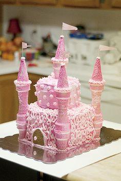 A super fun cake we made - Raised Urban Gardens troll haven birthday parties Torta Baby Shower, Shower Cakes, Fancy Cakes, Cute Cakes, Pink Cakes, Beautiful Cakes, Amazing Cakes, Cake Cookies, Cupcake Cakes