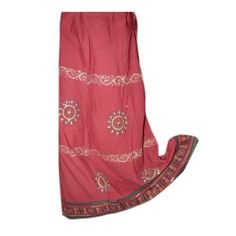 Boho Peasant Skirt Gypsy Long Skirt Red Chakra Printed Bohemian Skirts: Clothing  $24.95