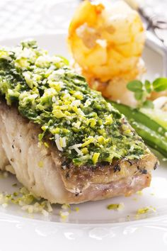 Low Carb Grilled Halibut with Cilantro Garlic Butter Recipe