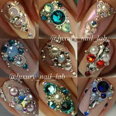 """Obtain terrific pointers on """"acrylic nail art designs ring finger"""". They are accessible for you on our website. Gem Nails, Sparkle Nails, Bling Nails, Swag Nails, Bling Nail Art, Diamante Nails, Rhinestone Nails, Beautiful Nail Art, Gorgeous Nails"""