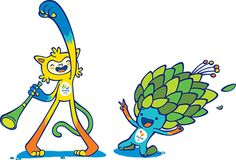 Rio 2016 Olympic and Paralympic Mascot Vinicius and Tom Olympic Mascots, Rio Games, Olympic Games Sports, Olympic Gymnastics, Gymnastics Quotes, Brazil Olympics, Rio Olympics 2016, Summer Olympics, Olympic Logo