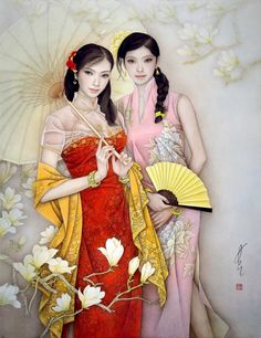 By artist Feng Chang Jiang (b.1943, Chinese)