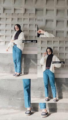 Modest Fashion Hijab, Street Hijab Fashion, Casual Hijab Outfit, Ootd Hijab, Muslim Fashion, Korean Fashion, Fashion Outfits, Fashion Styles, Simple Outfits