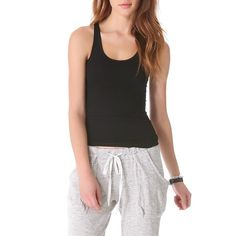 Rank & Style Top Ten Lists | Theory Len Tubular Tank Top #rankandstyle #casual #black #loungewear #basics
