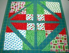 Nine Patch diagonal cut with excellent tutorial