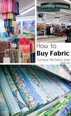 The Beginner's Guide from @mellysews: How to Buy Fabric via @joannstores