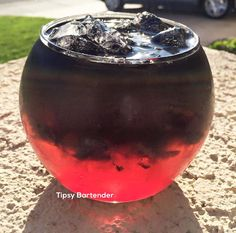 The Soul Reaper! Dark and mysterious this drink looks truly sinister. However, it is extremely tasty and packs a punch! For the recipe, visit us here: http://www.tipsybartender.com/blog/soul-reaper