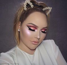 Looking sharp: Thanks to beauty vloggers like Nikkie De Jager of NikkieTutorials,  the cut crease is the new contouring