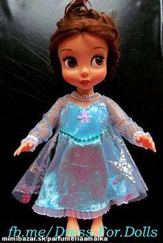 Šaty ako Frozen šaty pre bábiku od Animators