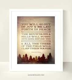 Christian Scripture Print  8x10 inch  The Trees by iamamessage