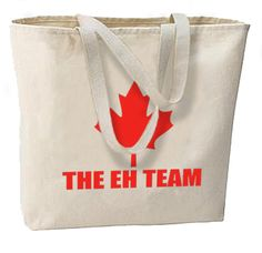 Eh Team Canada New Large Tote Bag Travel Events Maple Leaf