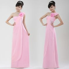 Good Quality Long Pink Gown New Evening Dress   $59.99