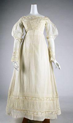 Cotton morning dress, American c1820. Metropolitan Museum of Art