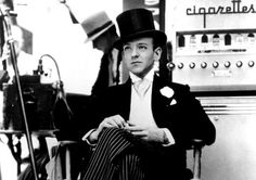 Fred Astaire in the set of Swing Time (1936)