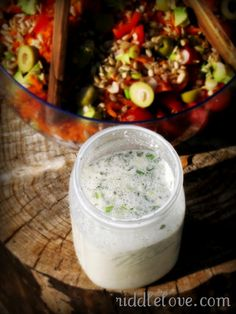 Creamy, Probiotic-Rich Ranch Dressing from Riddle Love (kefir, raw creme fraiche)