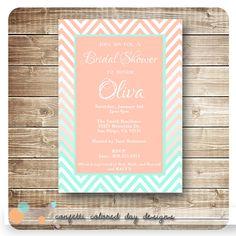 Peach and Mint   Confetti Colored Day Designs