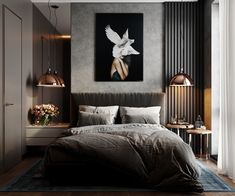 37 Wonderful Luxury Bedroom Design Ideas You Will Love - If you've ever watched Lifestyles of the Rich and Famous, you are familiar with what luxury bedroom decor is. It is defined by it's beauty, material, . Luxury Bedroom Design, Boho Bedroom Decor, Master Bedroom Design, Luxury Home Decor, Home Interior Design, Diy Bedroom, Decor Room, Bedroom Wall, Interior Architecture