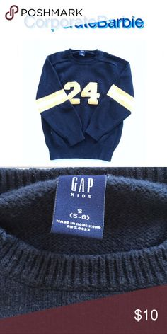 GapKids Sweater Sporty sweater from GapKids. Size Small fits 5-6. Significant pilling, but otherwise in good condition. Originally $50. GAP Shirts & Tops Sweaters
