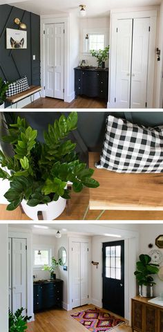 Eclectic Bungalow Entry Reveal   One Room Challenge Week 6 - Tiny House Giant Life