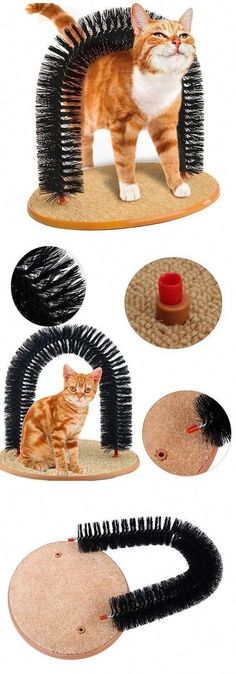 Cat Self-Groomer Arch Plastic Bristles Kitten Massager Scratcher Carpet Pet Toy Other Interesting Gifts For Pets: www. Diy Cat Toys, Dog Toys, Kitten Toys, Super Cat, Pet Furniture, Furniture Ideas, Furniture Stores, Lion Brand, Diy Stuffed Animals