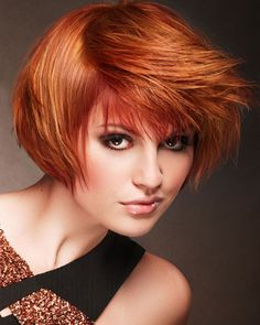 Copper red hair color 2013 The 30 Hottest Short Hair Color Trends for 2013 [Photo Gallery] Koperrode haarkleur 2013 De 30 heetste korte haarkleurtrends voor 2013 [Photo Gallery] Red Copper Hair Color, Hair Color Auburn, Auburn Hair, Color Red, Copper Blonde, Copper Bob, Blonde Color, Blonde Brunette, Warm Blonde