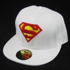 White New Superman hiphop Cosplay Snapback Adjustable baseball cap flat hat Gift 12.99