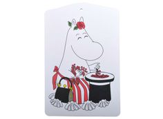 Moomin Mamma Cutting Board Get your meals together and prepared with a little whimsy on the side. Opto Design's Moomin Mamma Cutting Board features everyone's favorite Mamma collecting and counting berries to be eaten later in t. Moomin Shop, Tove Jansson, Cottage In The Woods, Just In Case, Cutting Board, Great Gifts, Boards, Drawings, Handmade