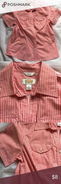💋SALE💋Talbots candy cane button down top, sm Talbots button down in a nice candy cane stripe. Like new, size says petite - fits like a small. Smoke free home, measurements on request, and offers more than welcomed! Sorry, I do not model the clothes. Talbots Tops Button Down Shirts