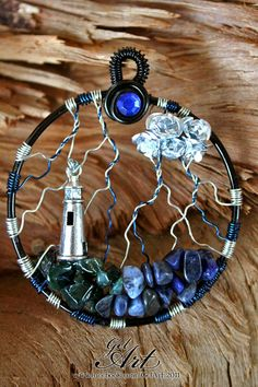 Stormy Night...pretty- yes. might do it differently -seed beads as rain, or swirling wires for wind