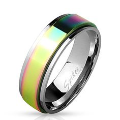 STR-0451 Stainless Steel Rainbow Spinner Ring (9) #Jinique http://www.amazon.com/dp/B013TICFNY/ref=cm_sw_r_pi_dp_OFTewb1E2E3ZC