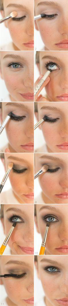 How To : Smoldering Smokey Eyes