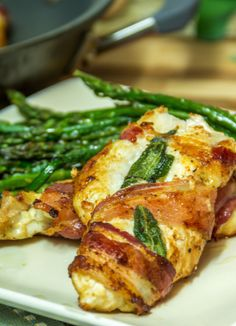 Bacon- Wrapped Garlic- Sage Chicken #recipe