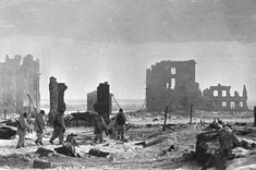 The center of Stalingrad after liberation. The Battle of Stalingrad lasted from August 23, 1942 until February 2, 1943.