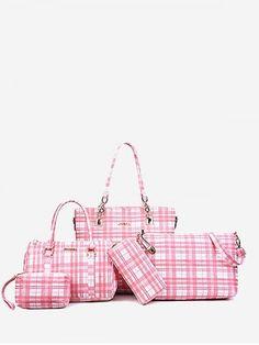 Fashion Handbags, Fashion Bags, Womens Fashion, Handbags On Sale, Women's Handbags, Commuter Bag, Cheap Shoes, Plaid Pattern, Fashion Prints