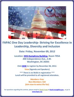 FAPAC One Day Leadership - Washington, DC - November 9, 2012  www.fapac.org