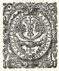 German, Andreas Wechel, came from a family of printers. Wechel fled Paris after the St Bartholomew's Day Massacre and moved his business to Frankfort. His name is associated with printing work by Bruno and other European Humanists, but an exact copy of Wechel's printers mark reappears again, not in Germany but in London, on one of the earliest versions of one of Shakespeare's most famous plays, King Lear.