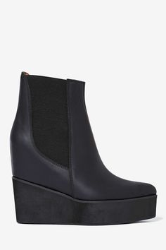 Jeffrey Campbell Waverly Leather Boot at Nasty Gal Wedge Boots, Shoes Heels Boots, Heeled Boots, Bootie Boots, Boot Shop, Cool Boots, Winter Shoes, Shoe Collection, Me Too Shoes