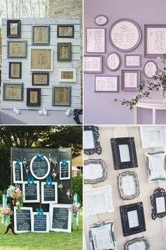 27 Creative Seating Chart Ideas Your Guests Will Love - Wall of Frames
