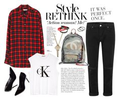 """Page 06/09"" by lali22 ❤ liked on Polyvore featuring Equipment, By Terry, The Giving Keys, J Brand, Chanel, Calvin Klein, Pieces, StreetStyle, editorial and plaidshirt"